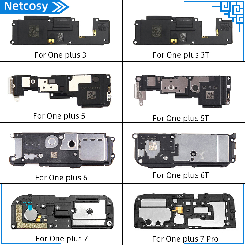 Netcosy 1 Pcs Loud Speaker For OnePlus 3 3T 5 5T 6 6T 7 7Pro Loud Speaker Buzzer Module Ringer Repair Parts