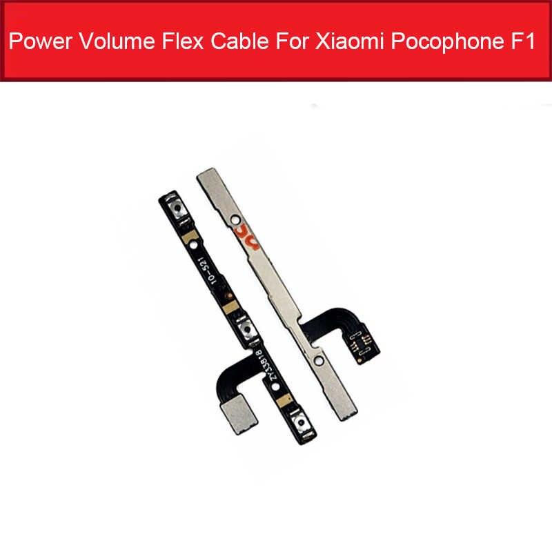 Power & נפח מתג לחצן Flex כבל עבור Xiaomi Pocophone Poco F1 אודיו שליטה & כוח צד מפתח להגמיש סרט החלפת חלקים