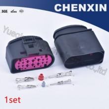 Plug-Connector Headlights-Lamp-Socket Auto-Xenon 1J0973837 14-Pin-Car Female Waterproof