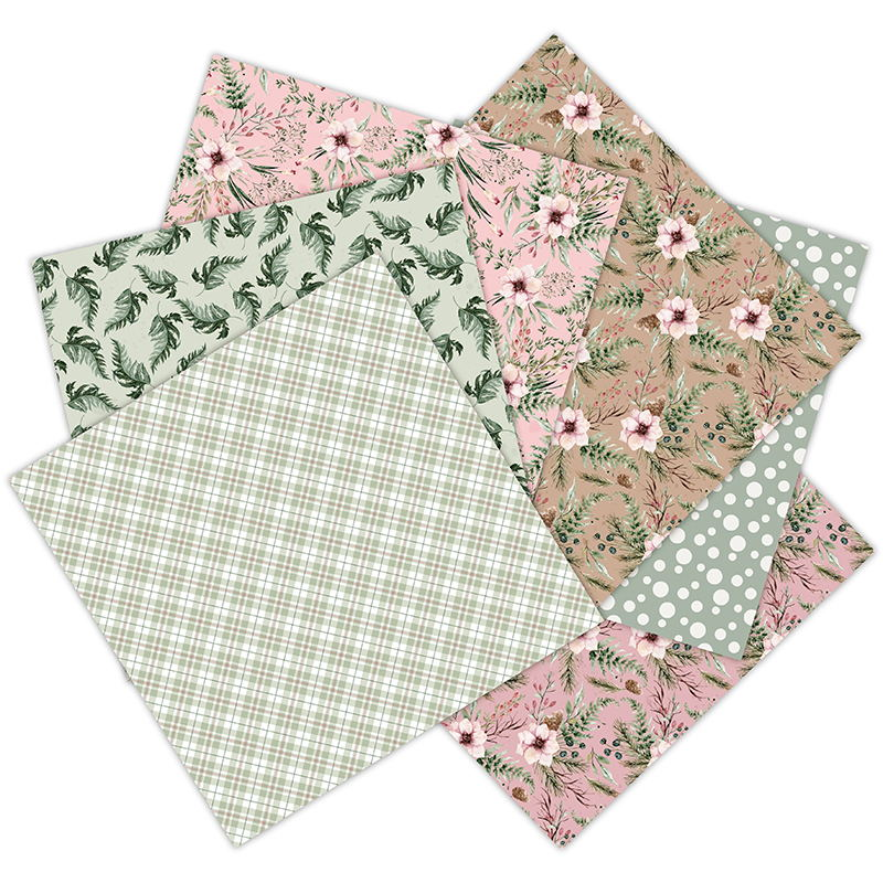 12 Sheets laste of winter Scrapbooking Pads Paper Origami Art Background Paper Card Making DIY Scrapbook Paper Craft 2