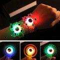 1 шт., вращающийся браслет-Спиннер для пальцев, мягкий светящийся браслет-гироскоп со светодиодной подсветкой, светящийся в темноте, игровые...
