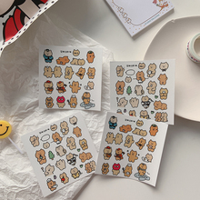 Ins Cartoon Bear Decorative Stickers Scrapbooking Hand book diary Laptops Cell Phone Case Labels Sticker Waterproof Stationery
