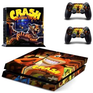Image 2 - Crash Bandicoot N Sane Trilogy PS4 Stickers Play station 4 Skin Sticker Decal For PlayStation 4 PS4 Console & Controller Skins