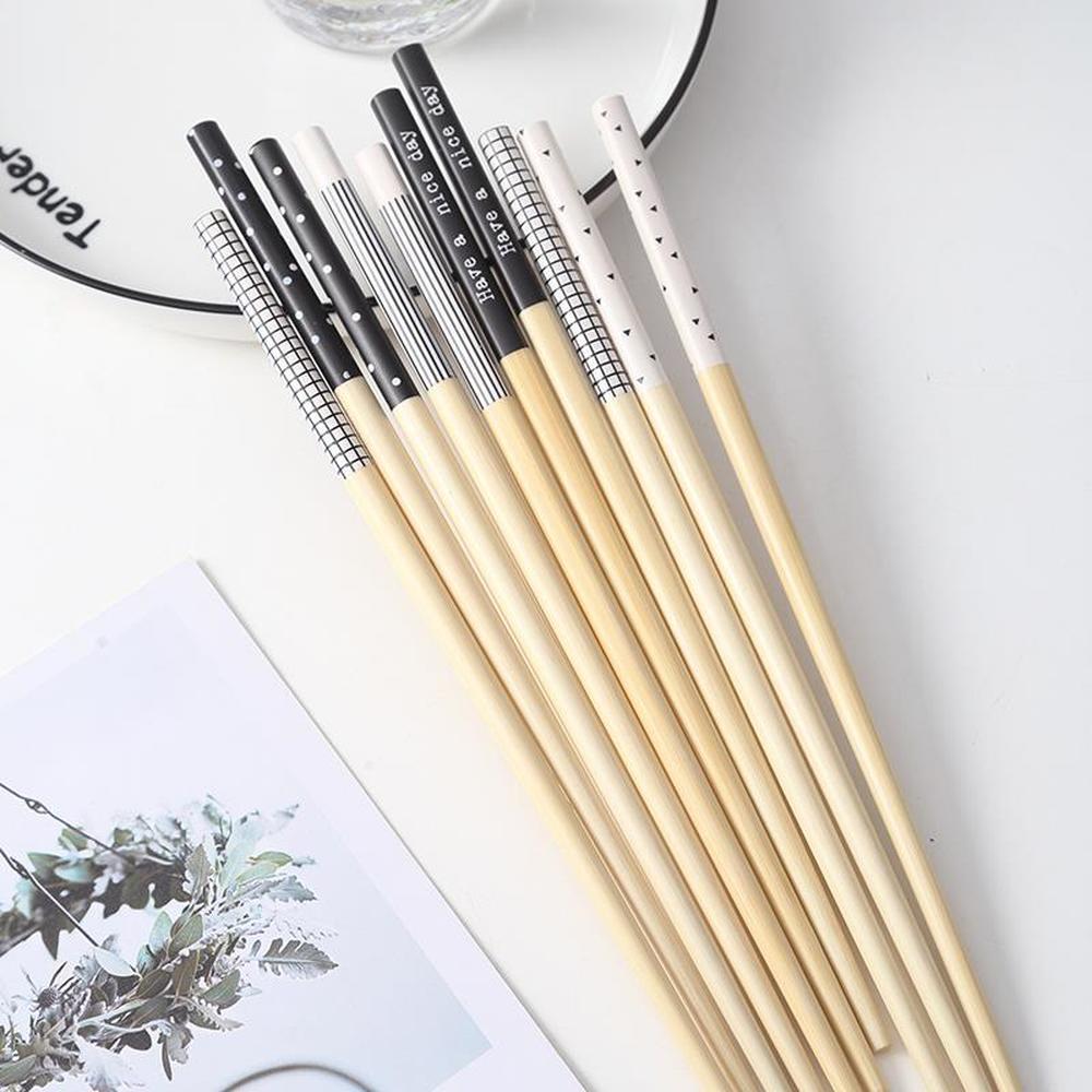 Палочки для еды из бамбука с экологически чистым принтом влюбленных