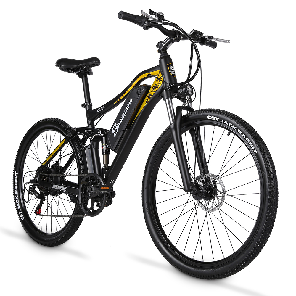 Shengmilo M60 27.5 inch Electric Bike 500W Mens Mountain Bike Ebike Adult Electric Bicycle Adult e Bike 48V15AH Lithium Battery