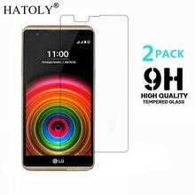 2 قطعة الزجاج المقسى sFor LG X الطاقة رقيقة جدا واقي للشاشة ل LG X قوة تشديد طبقة رقيقة واقية + تنظيف عدة HATOLY