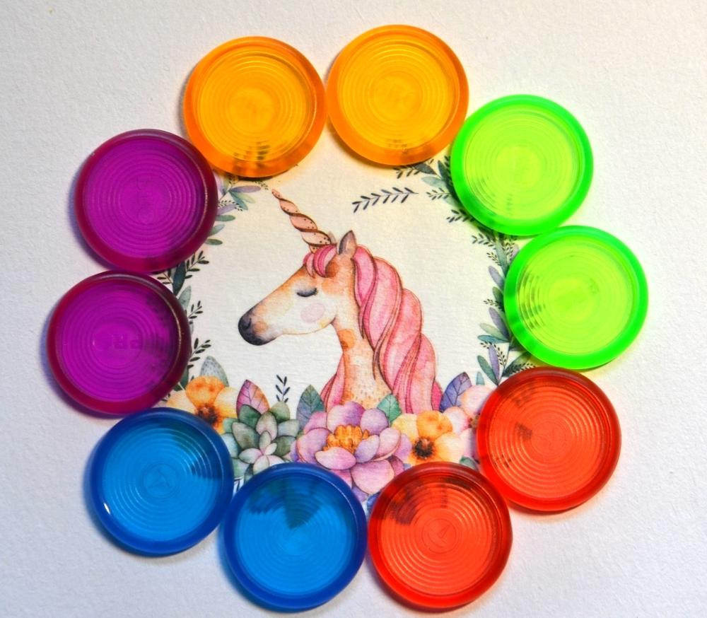 10pcs Plastic Round Binding Ring Buckle Color Button-like Binder Accessories Disc Buckle Piece Ring Roll Mushroom Hole Books