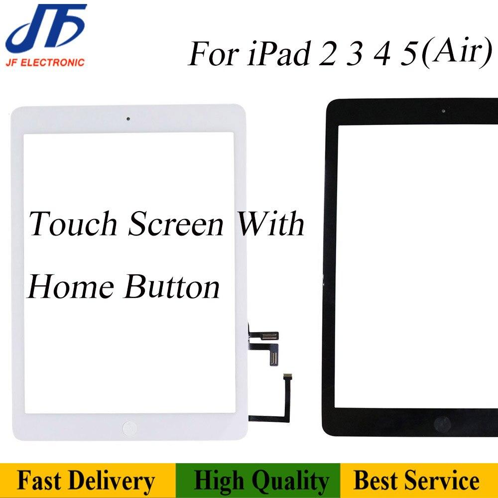 Сменные детали 10 шт., сменные детали для сенсорного экрана 5 / Air A1474, панель дигитайзера в сборе, дисплей с гибким кабелем для кнопки «Домой»