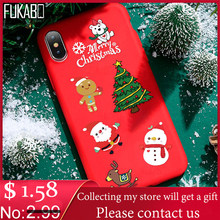 TPU Silicone Phone Case For xiaomi redmi note 7 8 5 6 Pro 9T 7A protection Soft cover For mi 9 SE 8 A3 Lite A2 A1 Christmas Case(China)