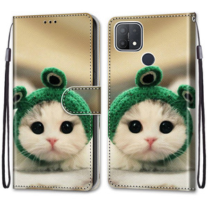 Image 4 - Etui On For OPPO A15 Case Wallet Flip Leather Case For OPPOA A 15 A15s CPH2185 CPH2179 6.52 inch Cute Animal Phone Cover