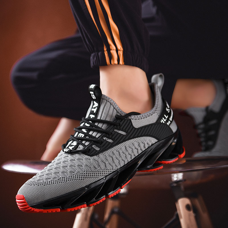 2020 New Fashion Outdoor Men Free Running For Jogging Walking Sports Shoes Lace-up Athietic Breathable Blade Shoes Men Sneakers