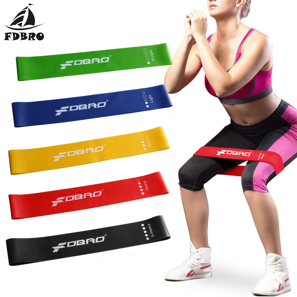 FDBRO Yoga Resistance Rubber Band Sport Training Elastic Bands Workout Loops Latex Yoga Gym Strength Athletic Fitness Equipment