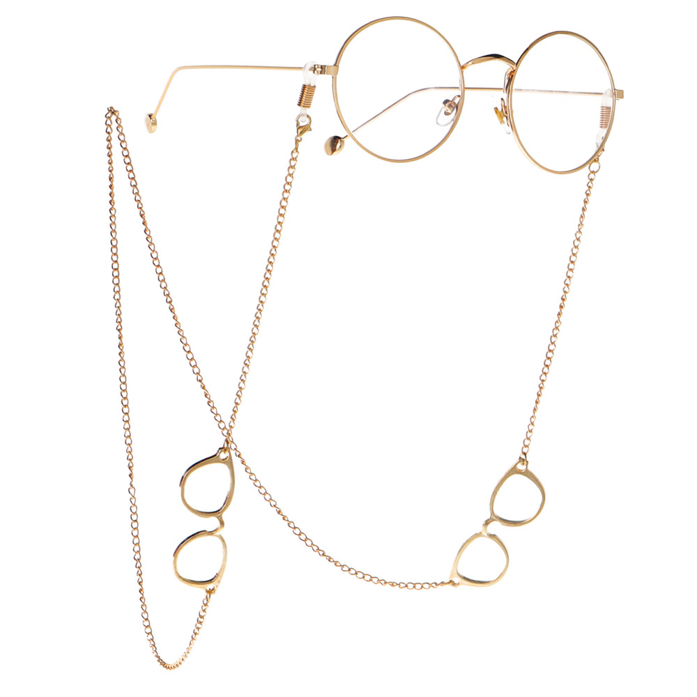 1PC Reading Glasses Chain For Women Metal Gold Sunglasses Cords  Eyeglass Lanyard Hold Straps Spectacles Shaped Eyewear Holder