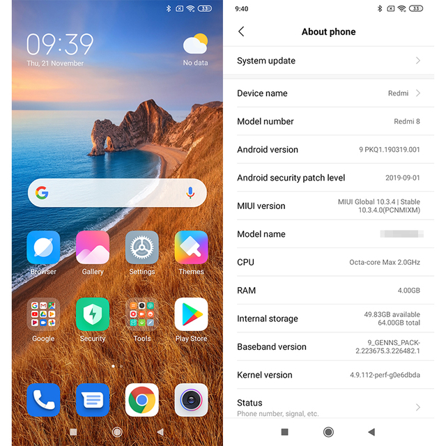Smartphone Xiaomi Redmi 8 3