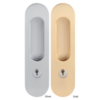 Fechadura da porta da ferragem da mobília da madeira do celeiro para portas duplas prata/ouro|Fechaduras de portas| |  -