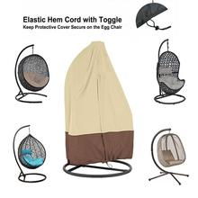 Wicker Swing Seat Cover Rattan Swing Patio Garden Weave Hanging Egg Chair Seat Cover Anti-UV Waterproof Hanging Chair Cover single person high quality wicker garden leisure swing chair outdoor hammock patio leisure cover seat bench with cushion