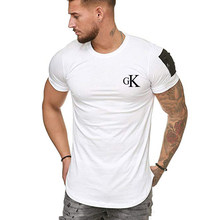 Summer Men's Fashion 2021 T-shirt Hot-selling Brand Design Personalized Fashion Printing O-neck Quick-drying Stretch Casual T-sh