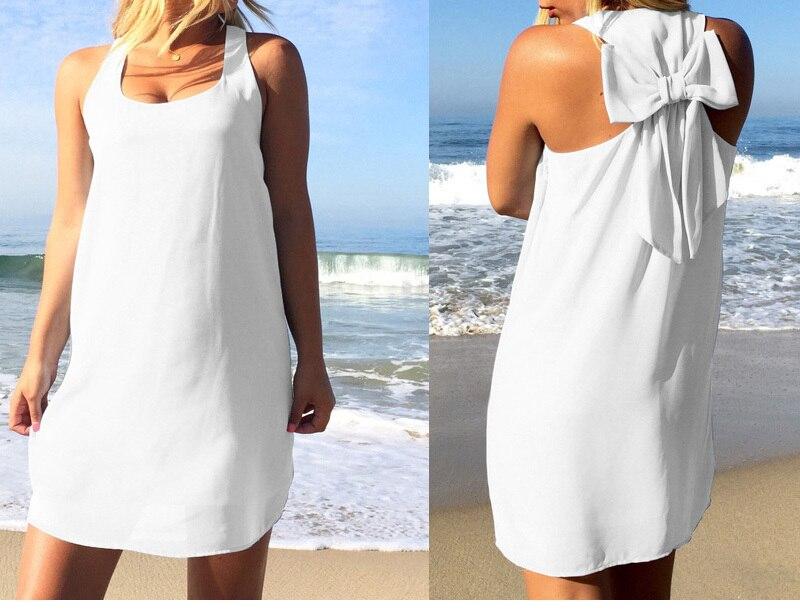 Летнее платье, Летний стиль, Женский Повседневный Сарафан размера плюс, женская одежда, Пляжное платье, шифоновое женское платье - Цвет: White