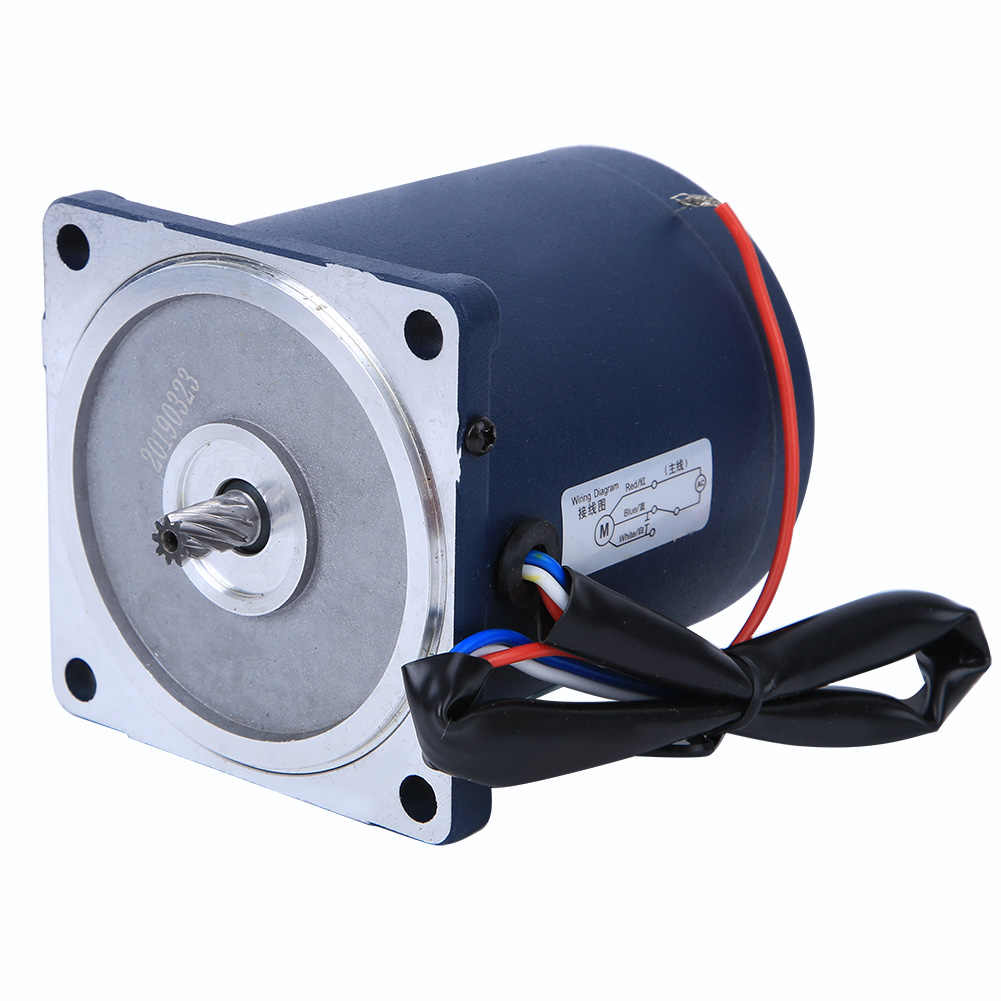 220V AC มอเตอร์เกียร์เดี่ยว 25W + กล่องเกียร์ความจุ 50K Reduction Ratio