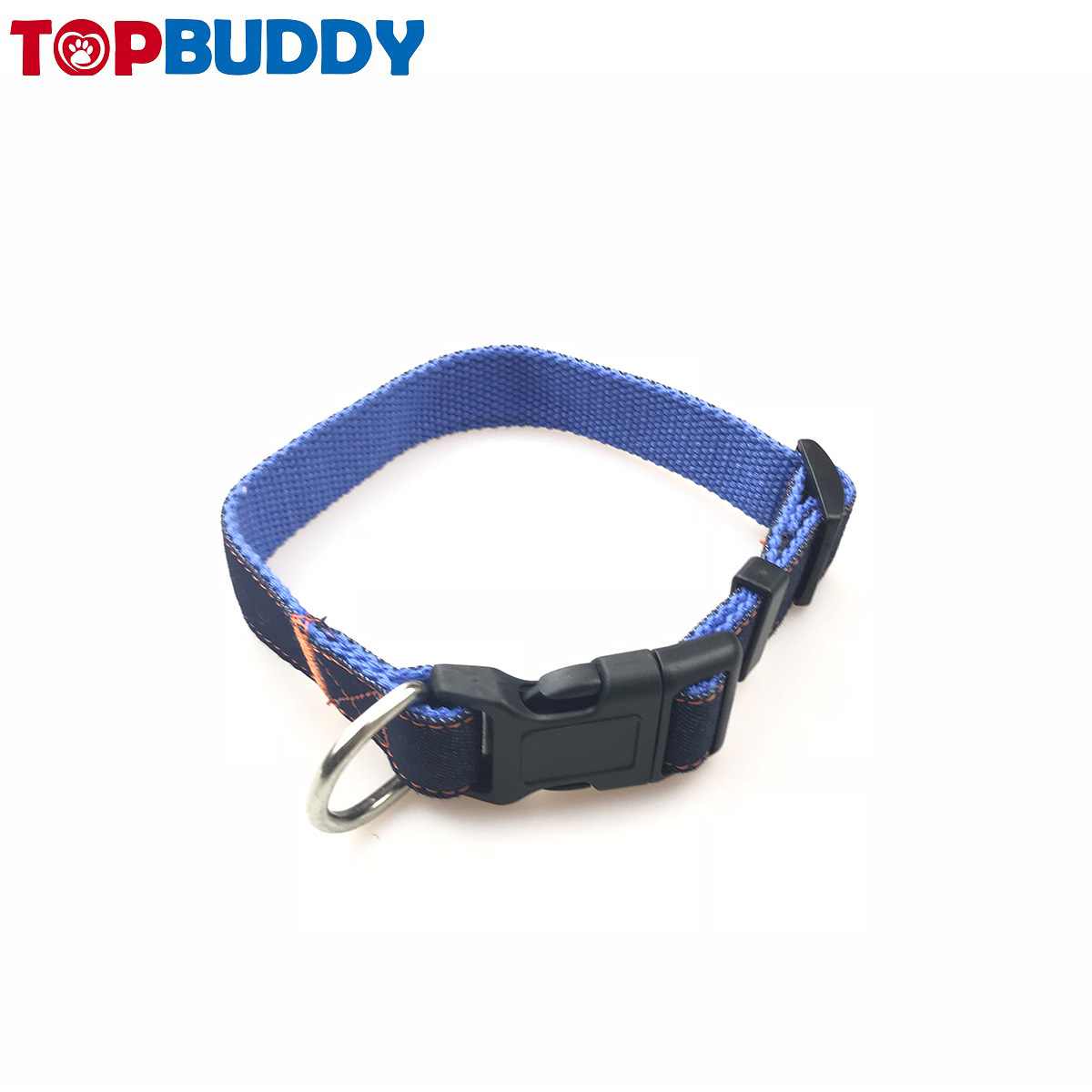 Pet Supplies Adjustable Size Denim Neck Ring Denim Pet Dog Collar Customizable