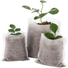 100 шт многоразмерные биоразлагаемые нетканые мешки для питомника, сумки для выращивания растений, тканевые горшки для рассады, экологически чистые аэрации, посадочные сумки