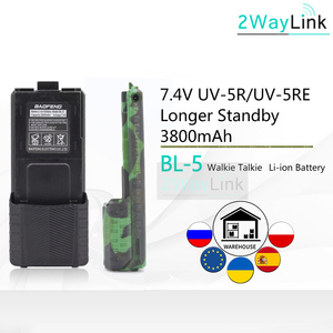 Baofeng UV-5R Battery 3800mAh BL-5 Charger Cable USB Cable BF-F8 uv 5r uv5r UV-5RE UV-5RA 5RB 5RL F8+ F8HP Walkie Talkie Battery