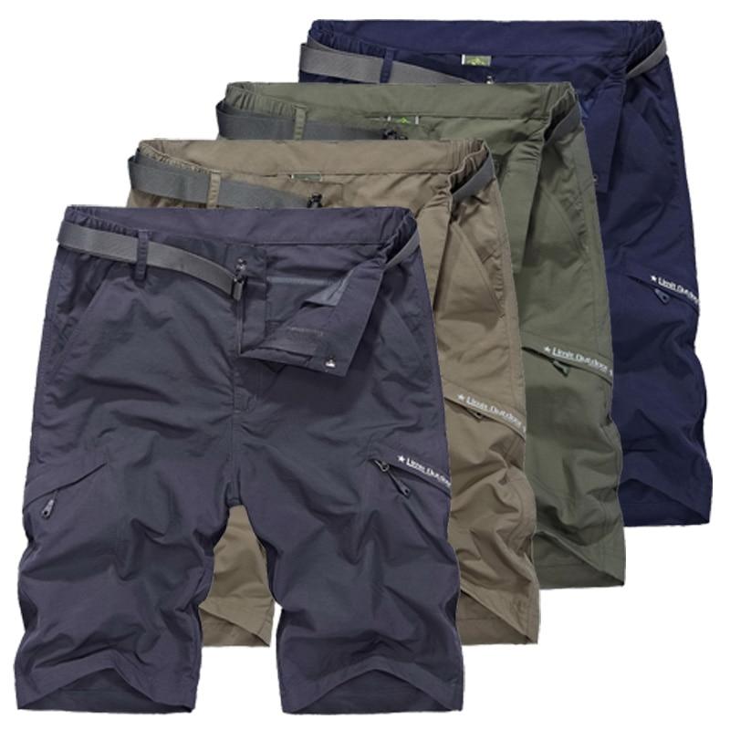 LoClimb extérieur short de randonnée homme escalade/Camping/Trekking/voyage kaki short de sport pour homme AM385