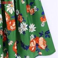 Tangada Women's Long Dress Flowers Print V Neck Strap Adjust Sleeveless 2021 Korean Fashion Lady Elegant Dresses CE310 5