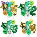 7 шт./лот, вечерние воздушные шары с динозавром, Детские вечерние шары для дня рождения с украшением в виде динозавра