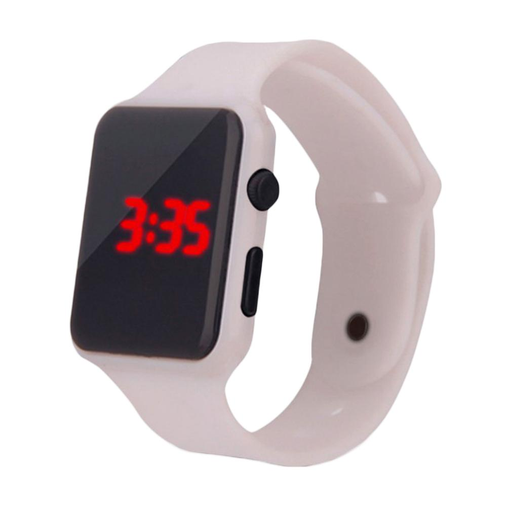 Children's Watches Kids Sport Watch Unisex Rectangle Dial LED Light Digital Display Plastic Electronic Wrist Watch часы детские