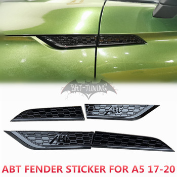 1 Set Honeycomb Style Fender Trim For AUDl A5 2017-2020 Glossy Black ABT S5 RS5 Emblem ABS Side Air Vent Sticker Car Accessories d5055 replacement abs r c helicopter accessories set for v911 v911 1 v911 2 black green page 8