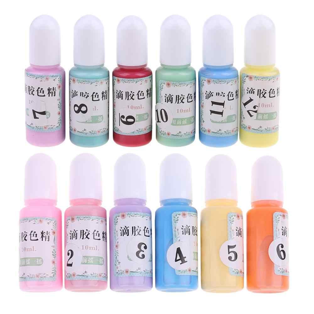 12 زجاجات السائل معكرون السائل اللؤلؤ الراتنج الصباغ صبغ UV الراتنج الايبوكسي الراتنج DIY بها بنفسك صنع الحرف مجوهرات اكسسوارات دروبشيبينغ