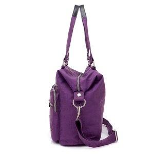 Image 4 - Lüks kadın Messenger naylon omuzdan askili çanta bayanlar Bolsa Feminina su geçirmez yüksek kapasiteli seyahat Kipled çanta kadın Crossbody çanta