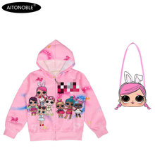 Aitonoble/ г. Весенне-осеннее пальто для девочек толстовки с длинными рукавами детские толстовки для детей, рождественское пальто принцессы для девочек