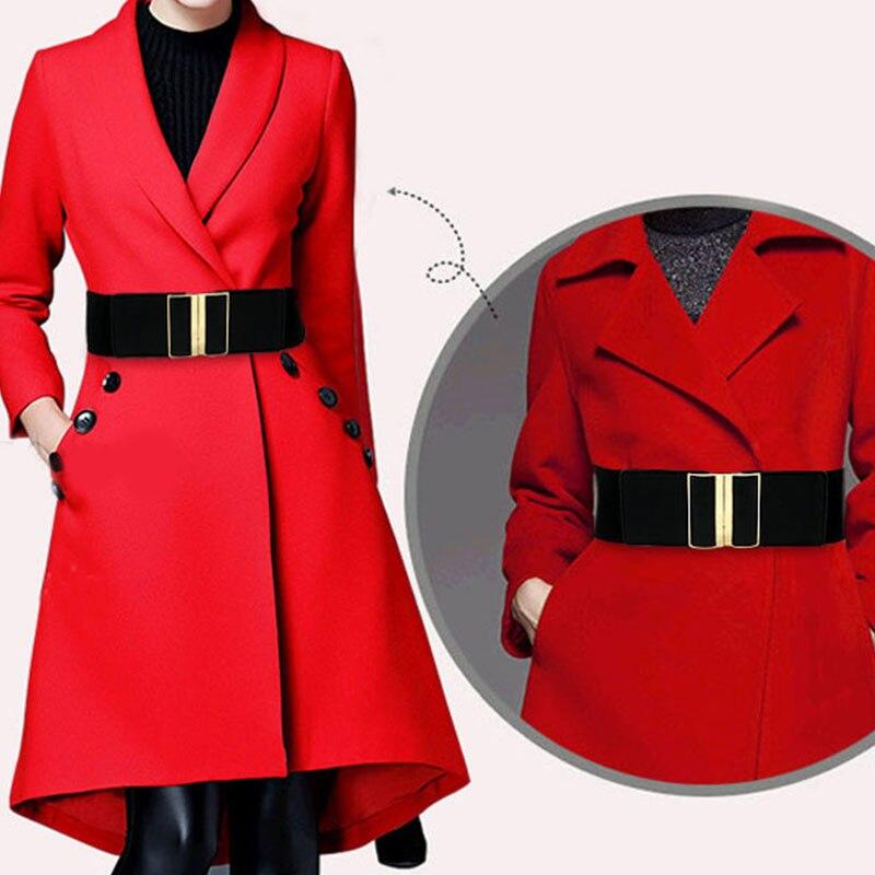 New Elastic Stretch Cinch Waistband Lady Cummerband Waistband Waist Seal Wide Belt Fashion Casual Female Belts High Quality