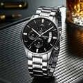 NIBOSI Relogio Masculino hommes chronographe Sport montres mode décontracté or Quartz montre-bracelet étanche de luxe homme montre