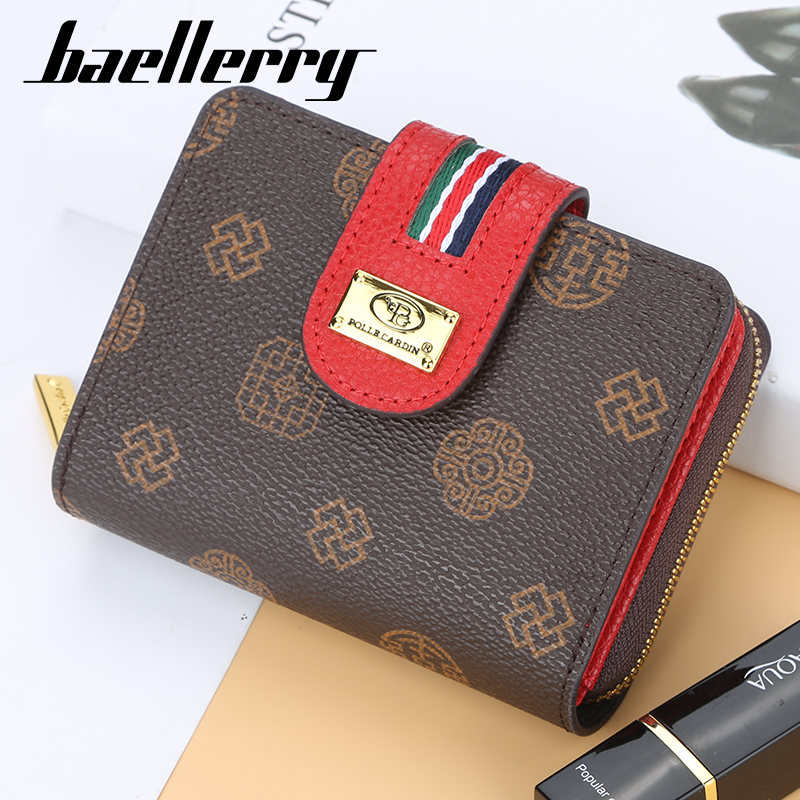 Brand Leather Women Wallets High Quality Hasp Zipper Short Wallet Women Card Holder Ladies Purse Money Bag Carteira Feminina