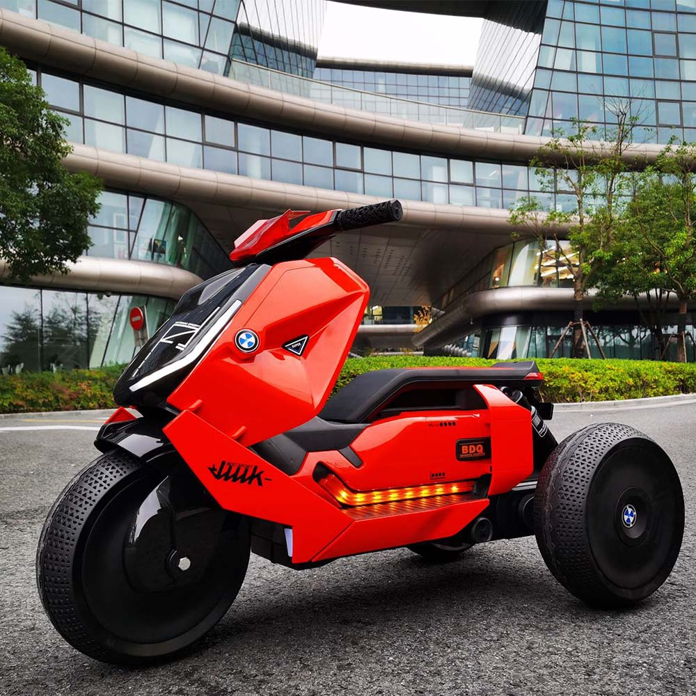 Children's Electric Motorcycle Children's Electric Dual-drive Tricycle 2-6 Charging Toy Car Can Ride On Rechargeable 6V7H