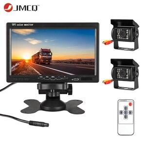 """Image 1 - JMCQ 7 """"TFT LCD السلكية سيارة رصد HD عرض السلكية عكس كاميرا نظام صف سيارات للسيارة الرؤية الخلفية شاشات لشاحنة مع 2 عدسة"""