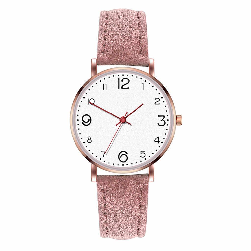 Relógios femininos moda temperamento feminino malha cinto de couro relógio de quartzo analógico relógio redondo montre femme 2018