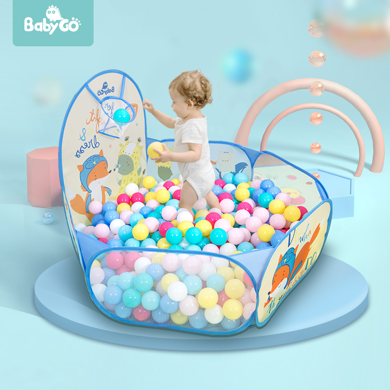 BabyGo Kids Baby Ball Pit Play Tent  With Basketball Pit Pool Convenient Carry Outdoor Toy Game Children Ocean Ball Tent House