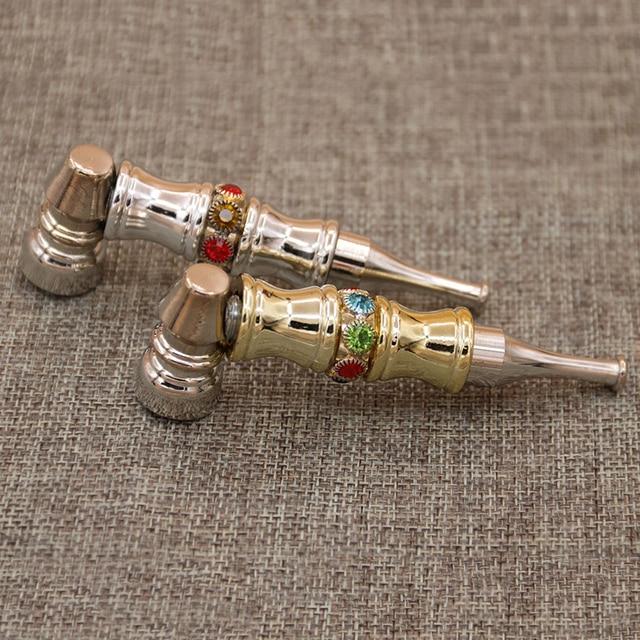 Fashion delicate Smok Metal Pipes Portable Creative Smoking Pipe Herb Tobacco Pipe Narguile Smoke Cigarette Holder Mouthpiece