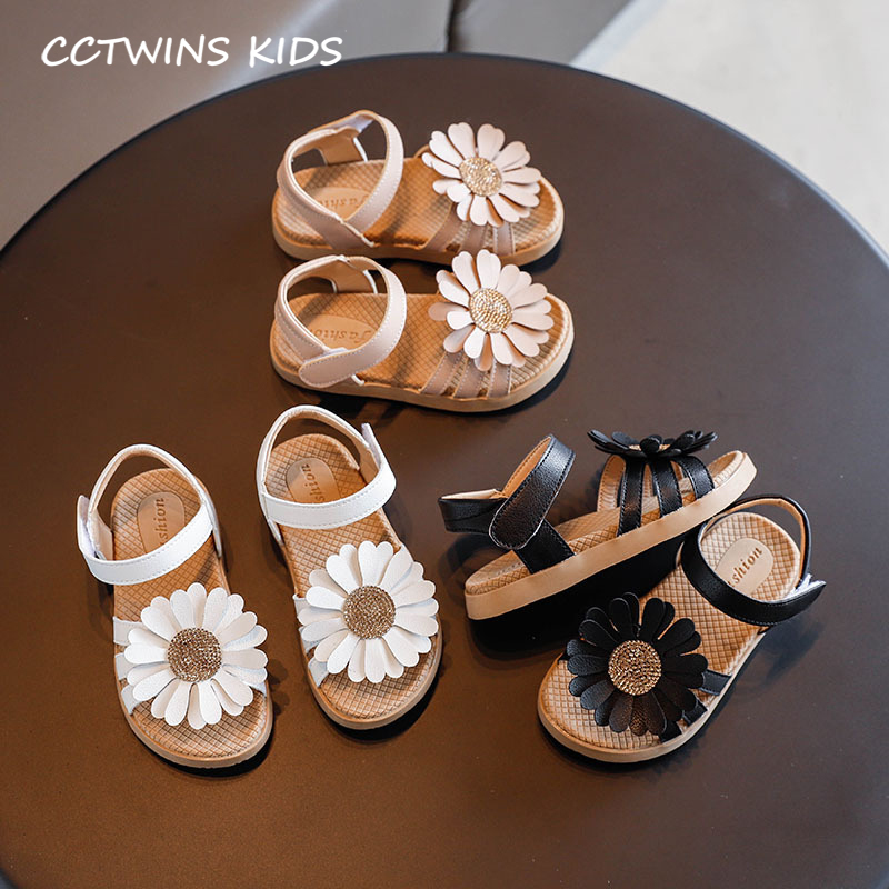 Kids Shoes 2020 Summer Girls Brand Rhinestone Flat Children Fashion Princess Sandals Baby Black Soft Flat Toddlers PY-PS-061