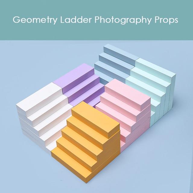 20 لون خشبي سلم الدرج الهندسة التصوير الفوتوغرافي صور اطلاق النار استوديو خلفية الدعائم