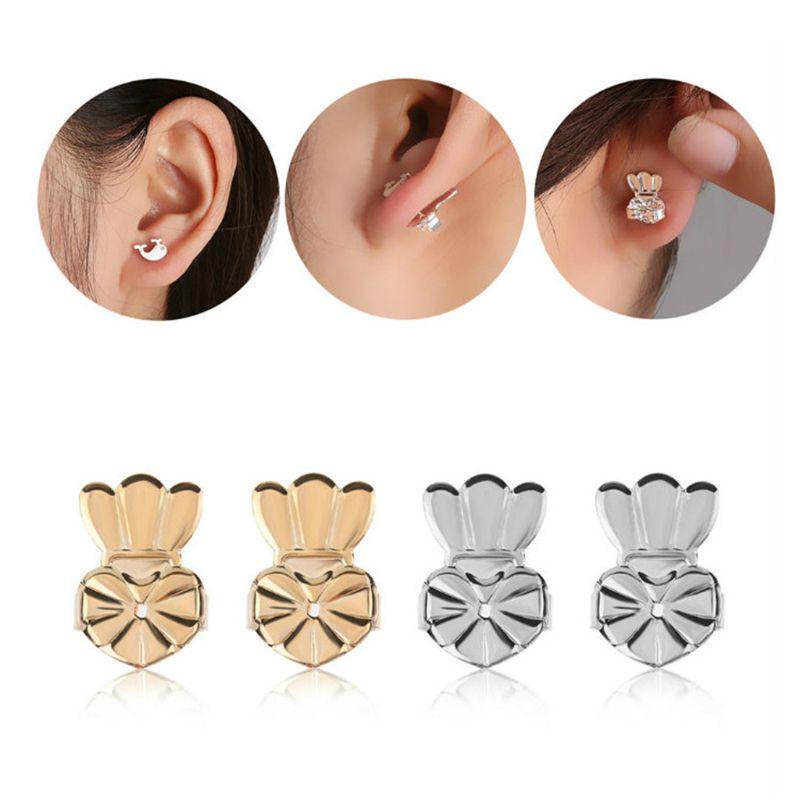 2 Pairs Magic Earring Lifters Adjustable Earring Backs Stud Earring Accessories Jewellery Gift For Women Girls