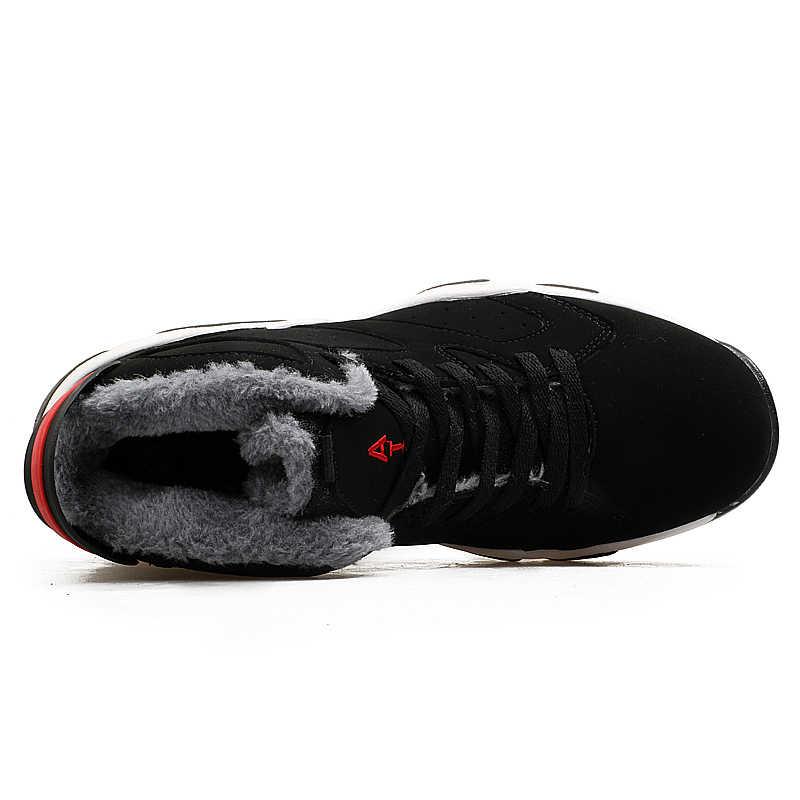 カップルクッションジョーダンレトロバスケットボールシューズメンズハイトップバスケットボールブーツ冬の屋外スニーカー最大暖かい靴ユニセックス 2019