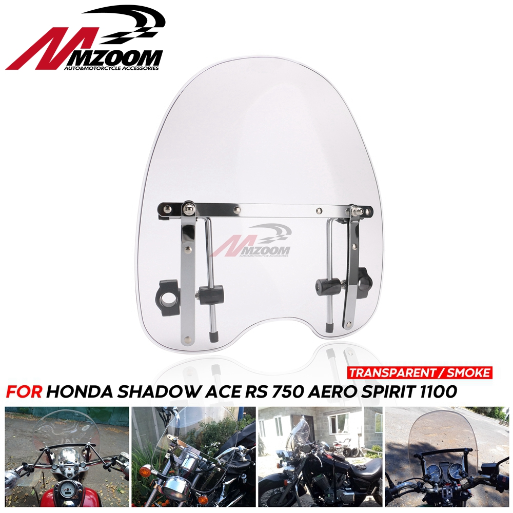Motorcycle Motorbike Windshield Windscreen For Honda Shadow ACE RS 750 Aero Spirit 1100
