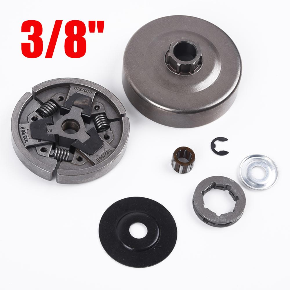 3/8 Clutch Drum Rim Sprocket Set E-Clip Kit For Stihl <font><b>MS660</b></font> 066 064 MS640 MS661 Chainsaw Assembly Cover Washer Needle Bearing image