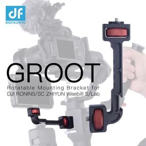 GROOT ZHIYUN WEEBILL S/LAB Crane 3/3S/3S-E DJI RONIN S/SC/RS2/RSC2 Extension Rotatable Bracket for Monitor LED