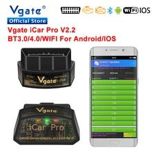 Escáner obd2 Vgate elm 327 iCar Pro, Bluetooth 3,0, 4,0, WIFI, diagnóstico de coche, ELM327, obd 2, odb2, herramienta de escaneo para IOS/Android